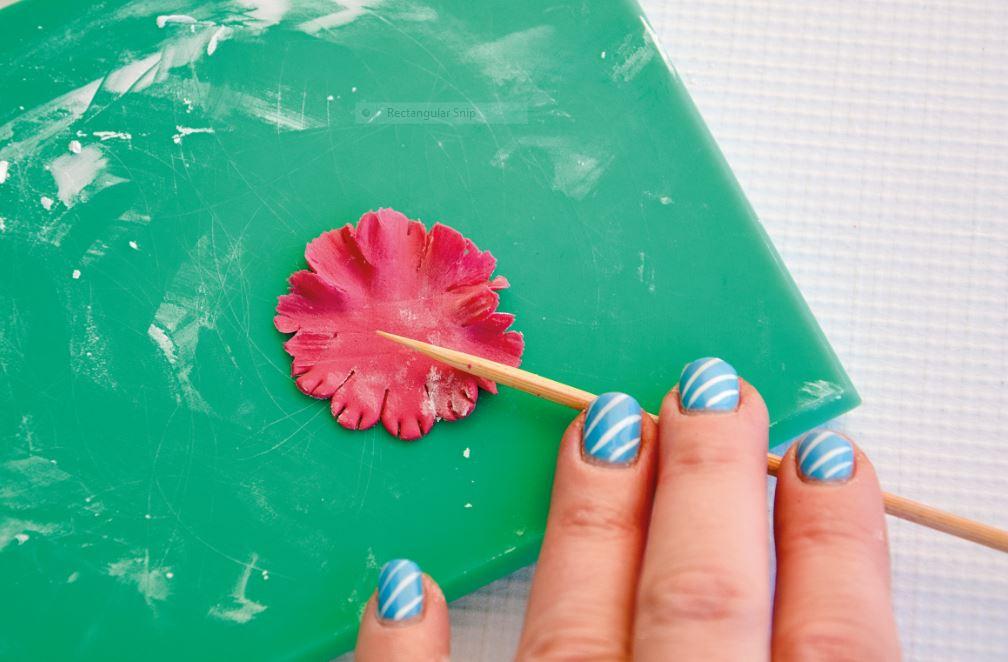 Sugarpaste Carnations step 2