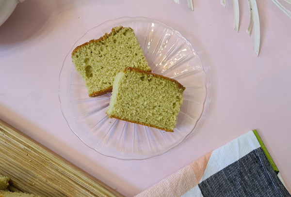 Castella cake slices CloseUp