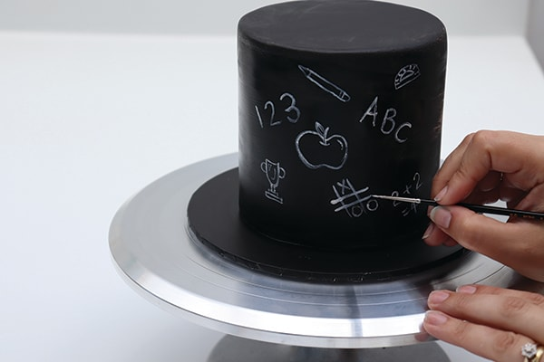 Chalkboard Effect Cake Step 1
