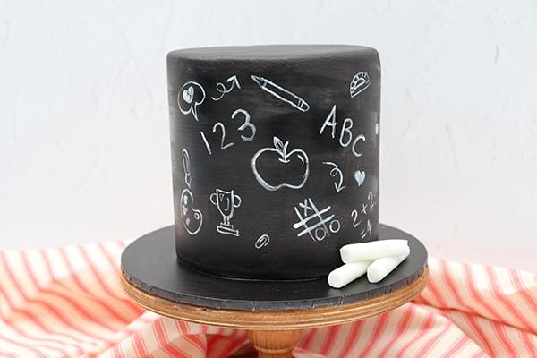 Chalkboard Effect Cake main