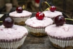 cherry truffle cupcakes