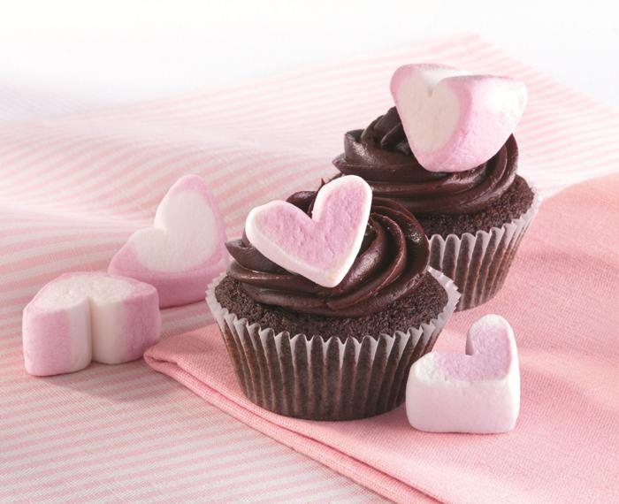 marshmallow cupcakes Valentine's Day baking Recipes