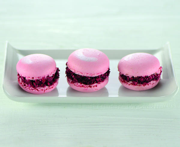 Chocolate and Raspberry French Macaroons
