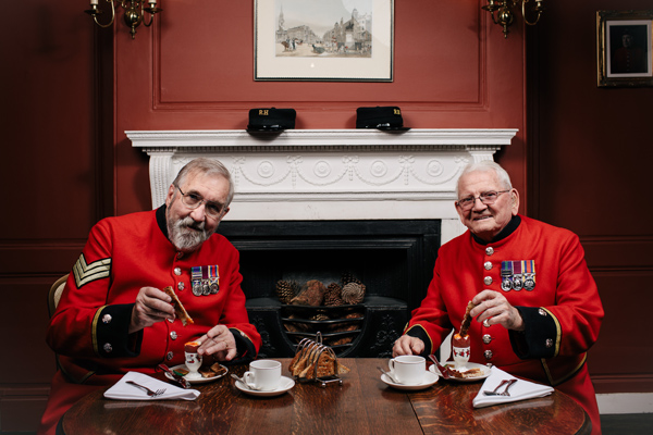Chelsea Pensioners celebrate World Egg Day