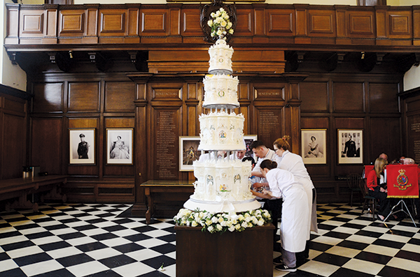 Coffee and cake with Chef Julie Walsh wedding cake image 2