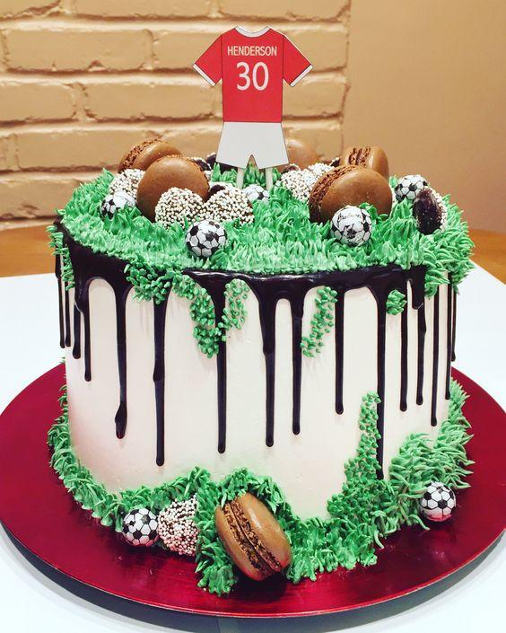 Best football bakes elegant football cake drip buttercream cake