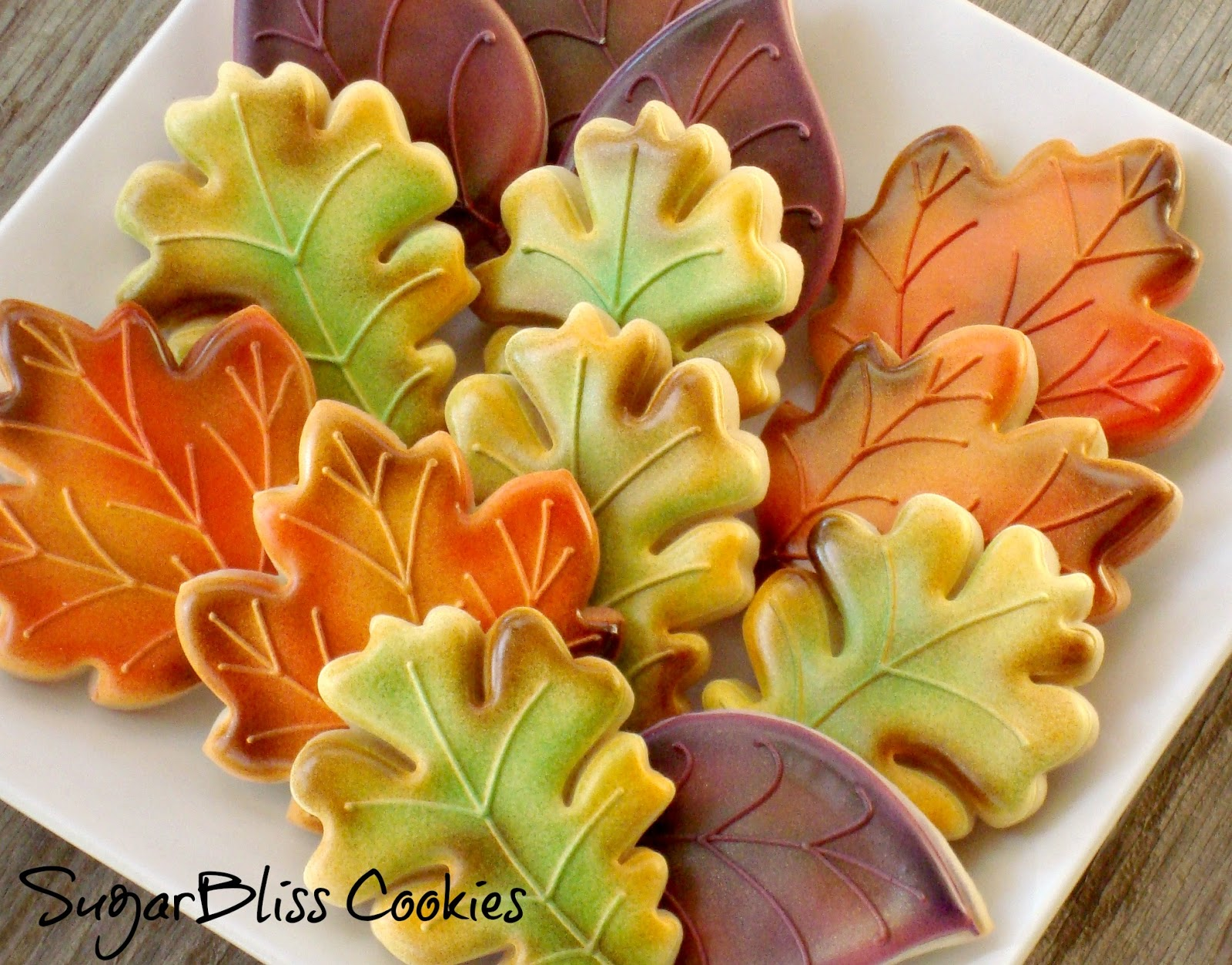 Freshly fallen iced Autumnal cookies