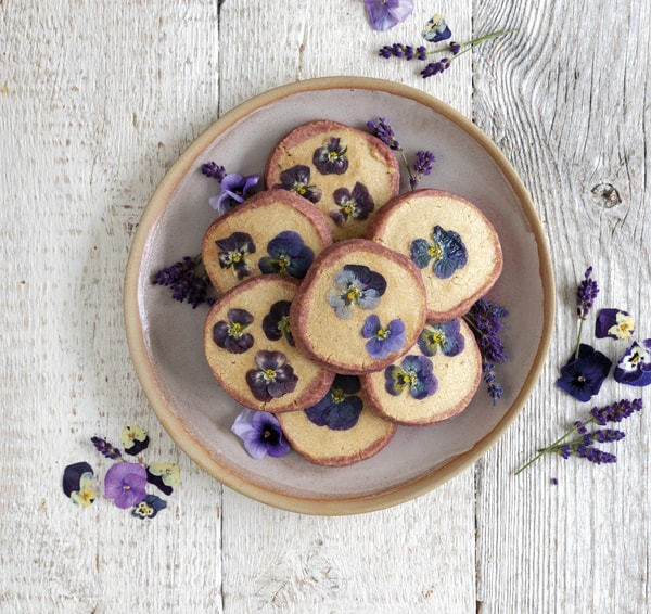 Finished lavender biscuits