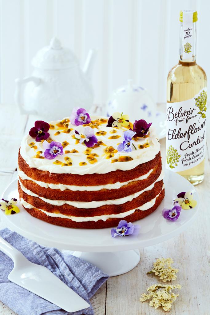 Orange and elderflower layer cake