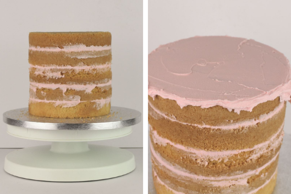 Flamingo Cake Step 1