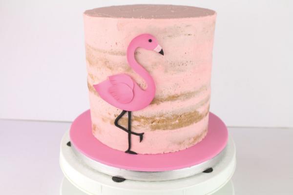 Flamingo Cake Step 17