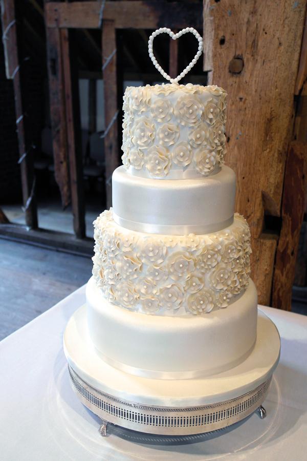 floral ruffles wedding cake
