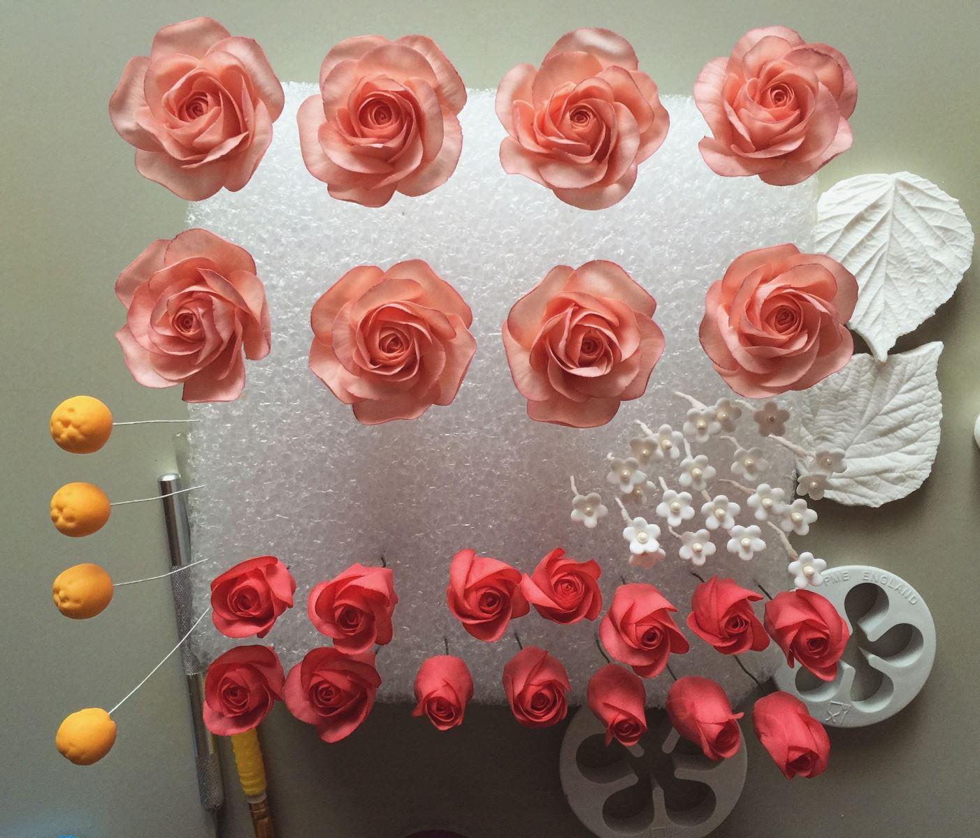 Flower paste flowers