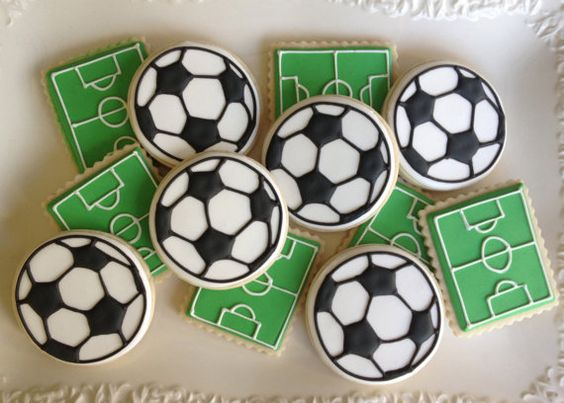 Best football bakes football biscuits pitch and balls