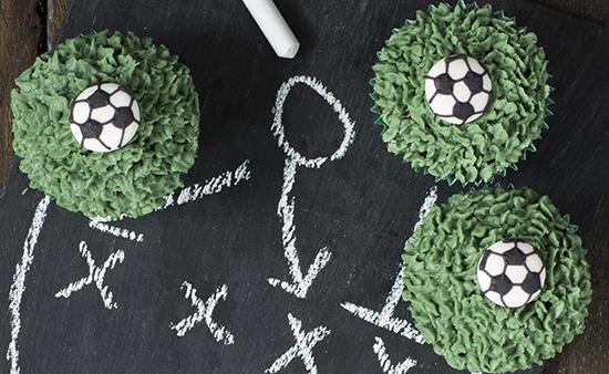 Best football cakes football cupcakes on black slate
