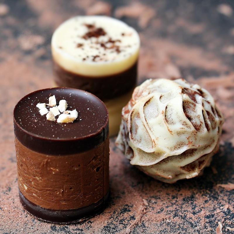 How to ganache a cake: Ganache covered chocolates