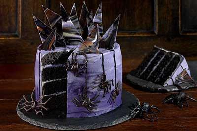 Gothic chocolate layer cake