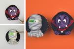 Fondant Halloween cupcake toppers tutorial
