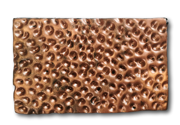 Hammered copper cake texture tutorial