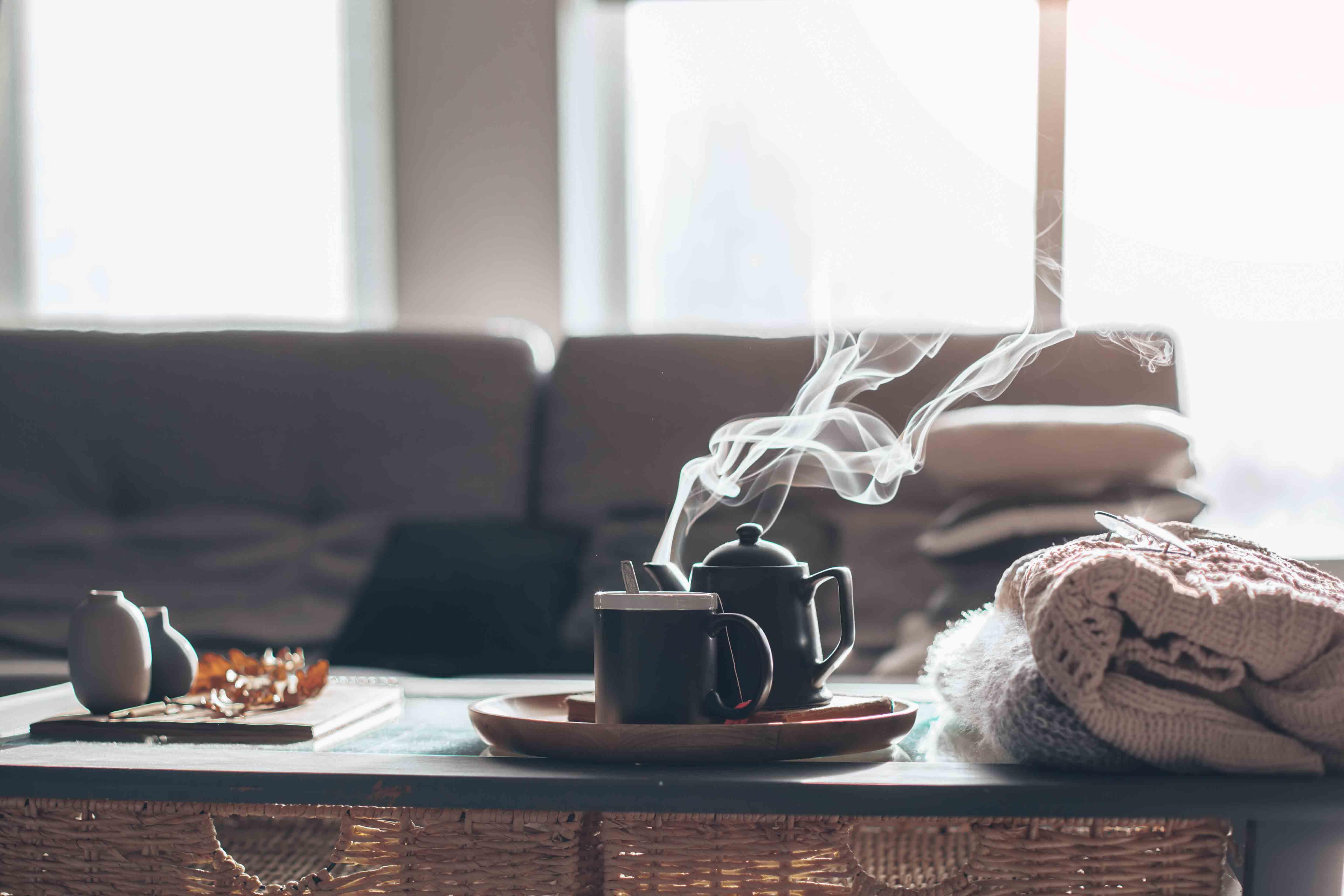 Home interior living, coffee, cosy