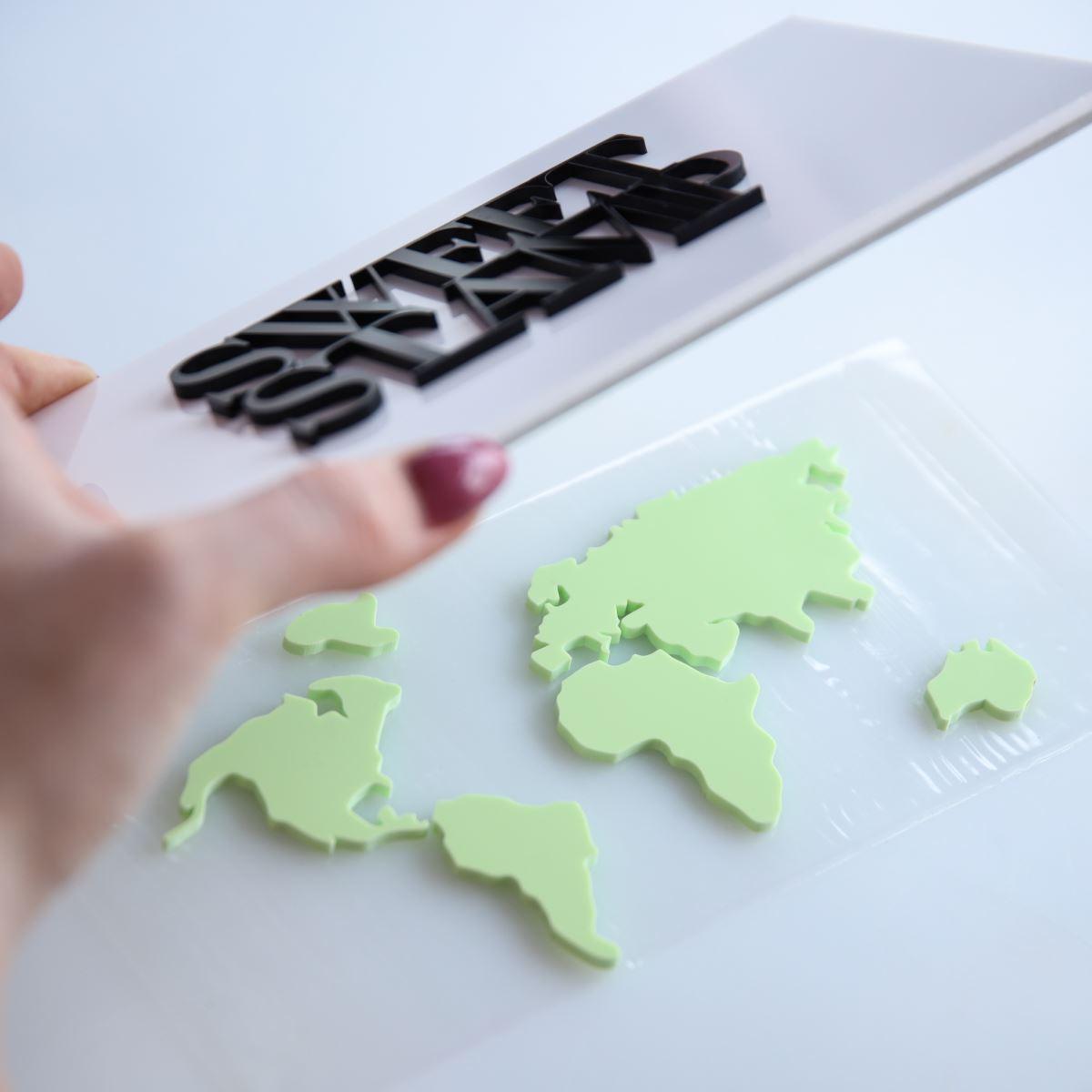 Sweet Stamp world map