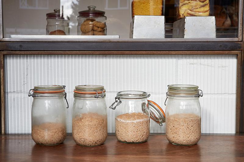 Sourdough starter jars