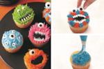 Marvellously monstrous Halloween cupcakes