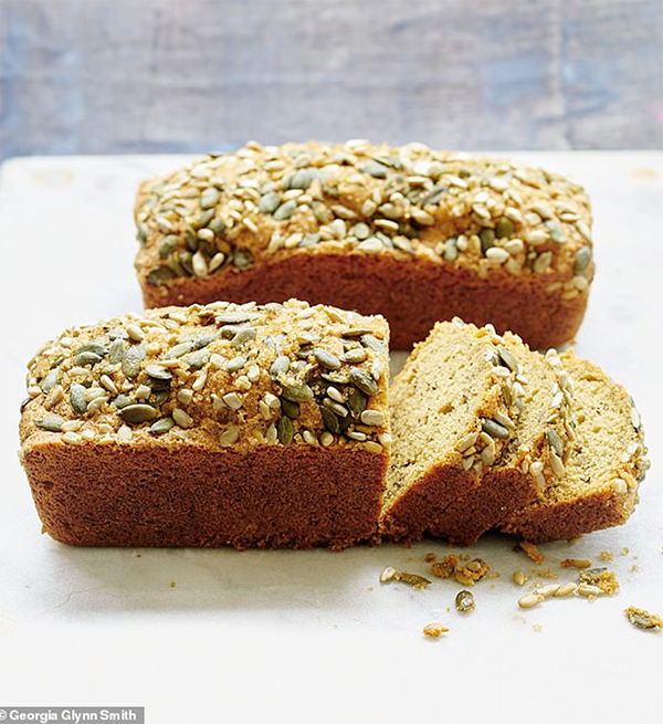 Mary Berry's banana bread with seed topping