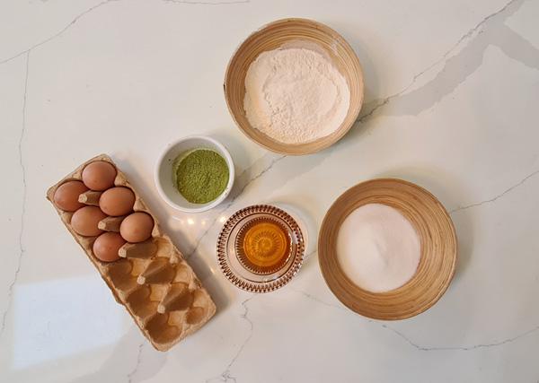 Matcha Castella Cake Ingredients