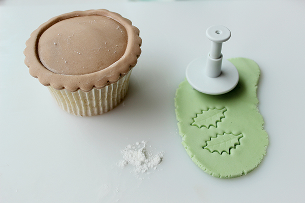 Mince pie Christmas cupcake toppers