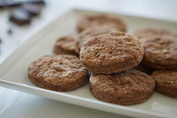 Mocha shortbread cookies