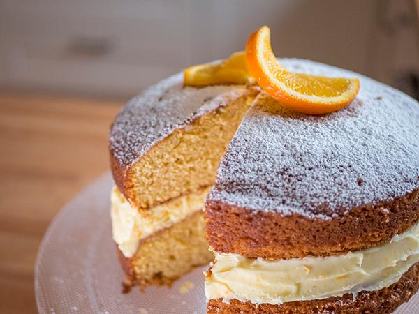 Orange cream cake Marie Curie