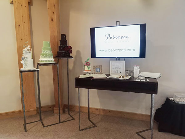 The Cake Professionals' bridal show stand