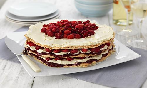 Raspberry Macaron Cake