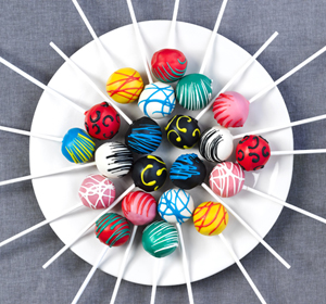 Renshaw all colours cake pops 300