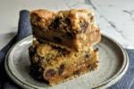 salted caramel cookie traybake