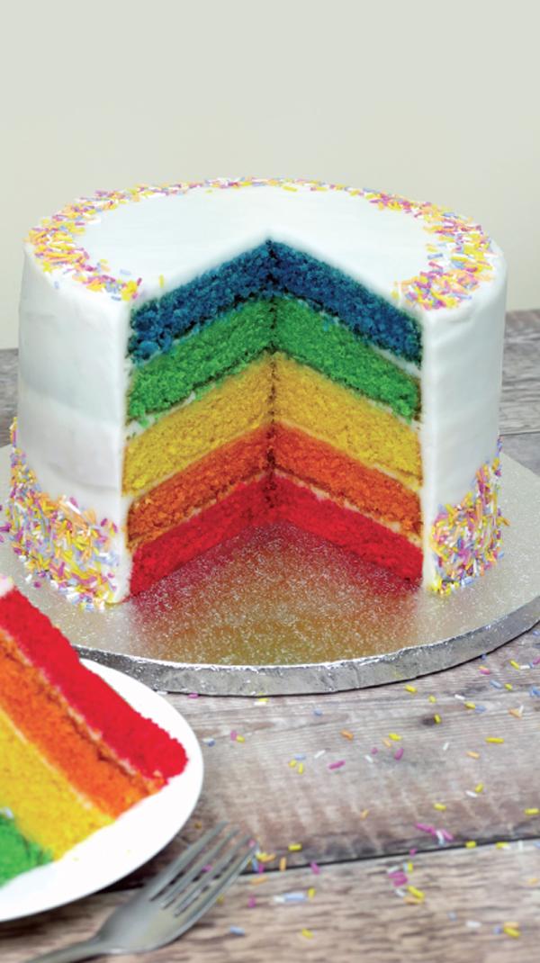 Rainbow recipes rainbow cake