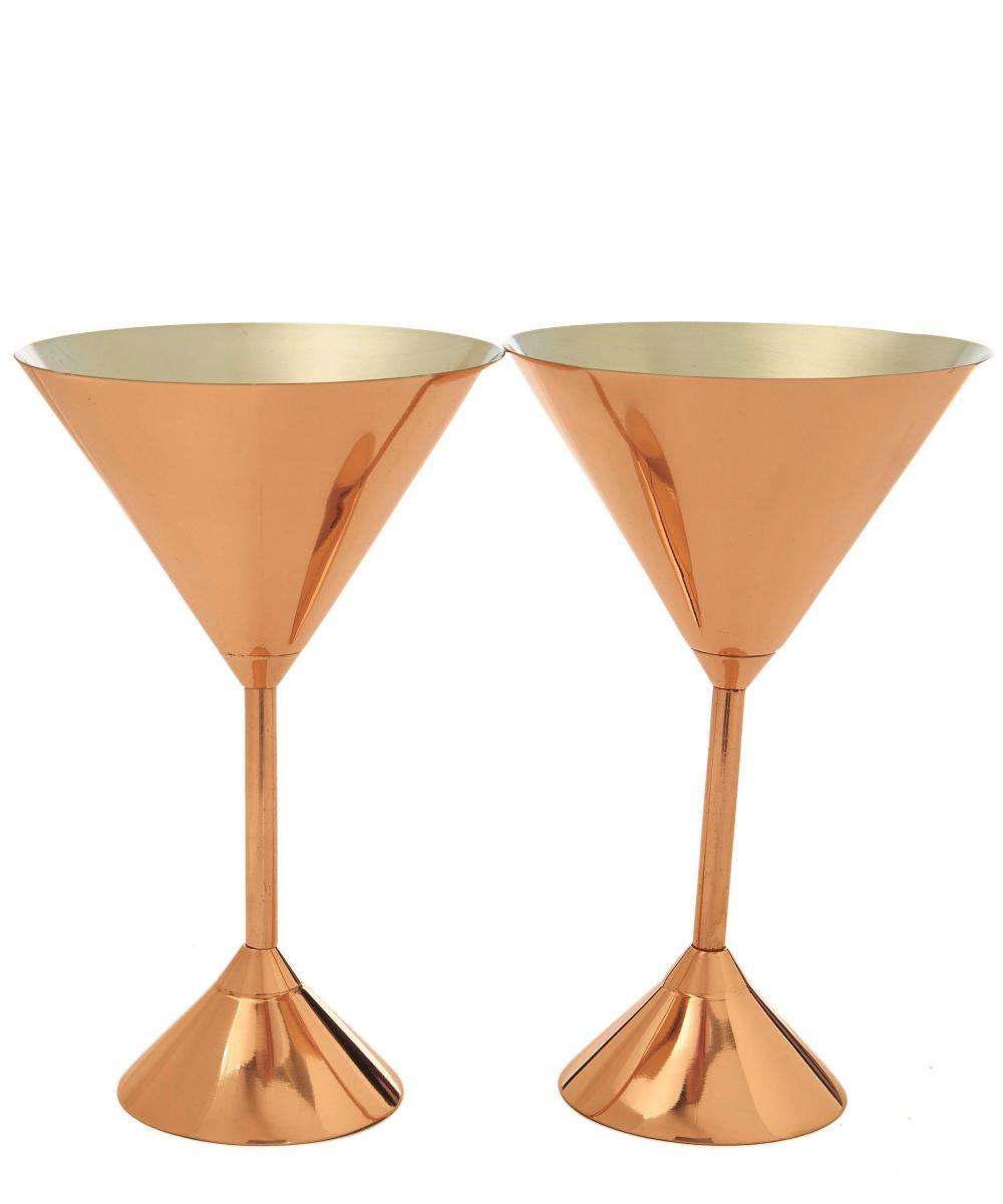 Plum martini glass set (£80) Liberty London