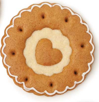 Gingerbread and shortbread cookie