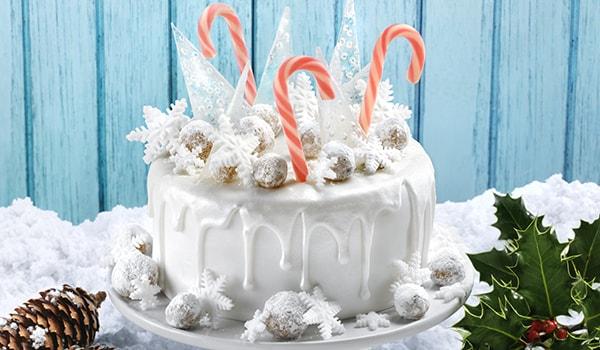 snow and ice Christmas cake