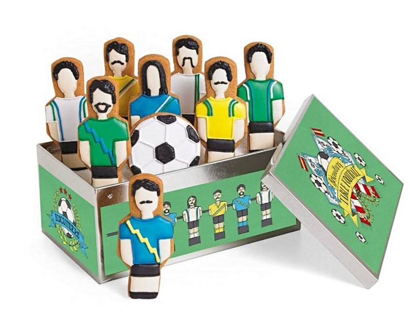 Best football cakes table football biscuits with giftbox