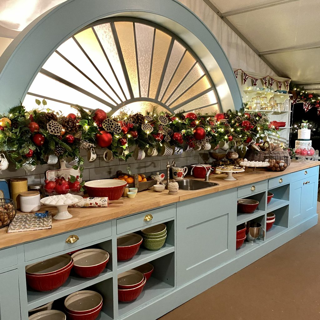 The Great Christmas Bake Off tent