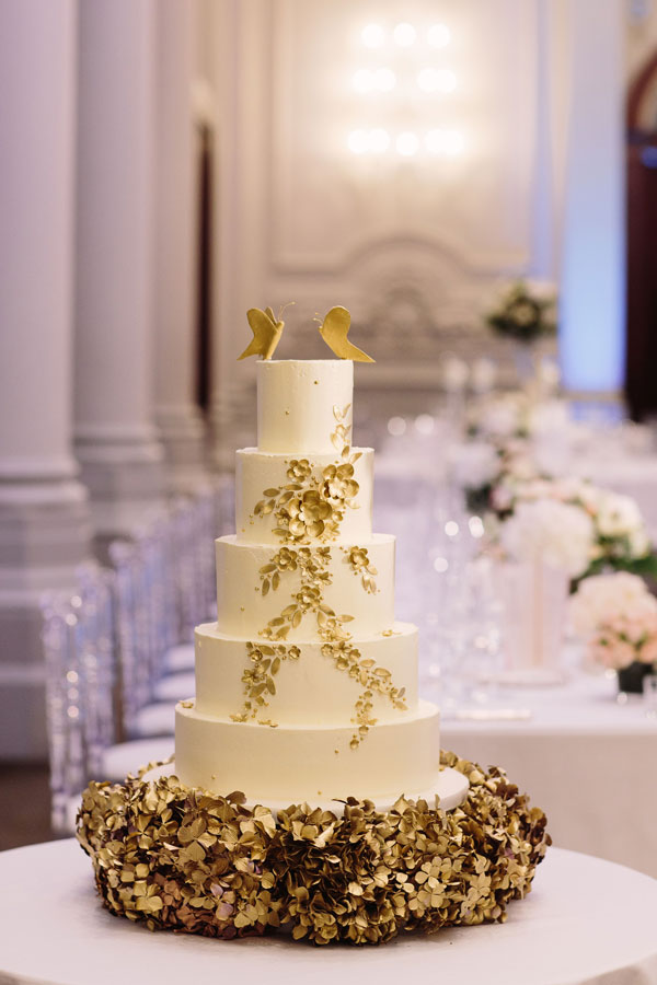 The Cake Professionals' five tier cake at a wedding fair