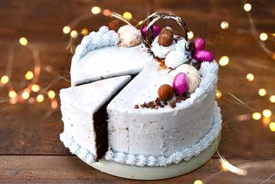 Vegan and gluten free easter chocolate cake