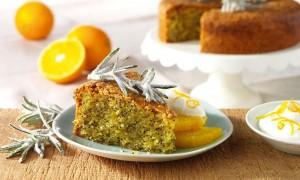 Zesty Orange Polenta Cake