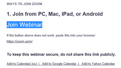How to join a webinar