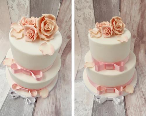 basic tiered cake
