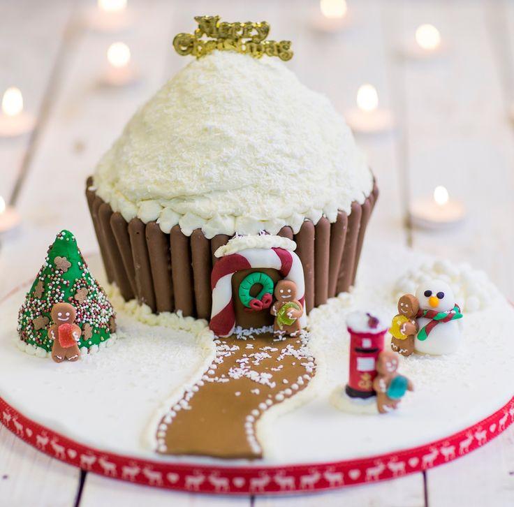 Giant Christmas cupcake