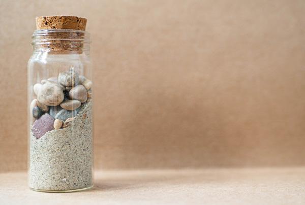 stones in a jar