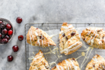 cherry white chocolate scones